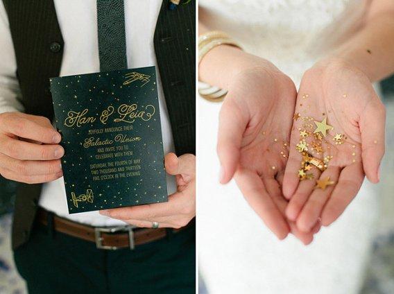star wars wedding mariage thème invitations
