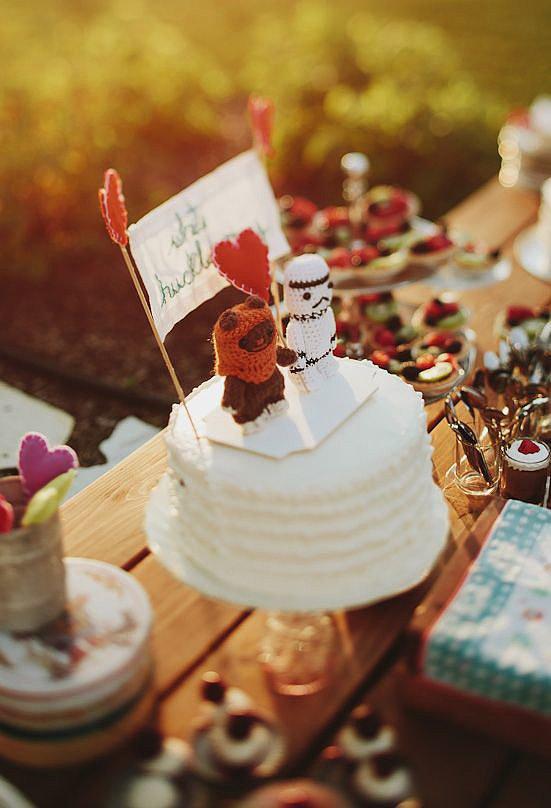 mariage wedding thème themed star wars cake toppers wedding cake